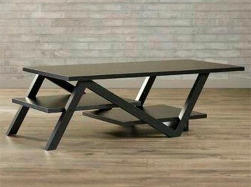 столик с двумя полками