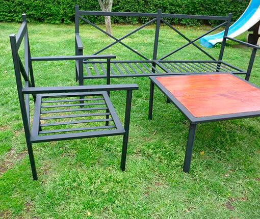 Садовая мебель металлическая