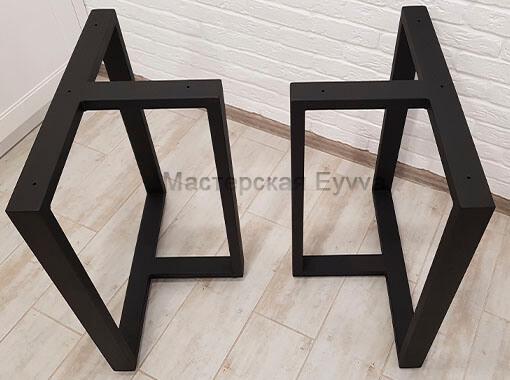 подстолье Т-образное черный матовый цвет