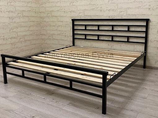 Кровать в черном матовом цвете