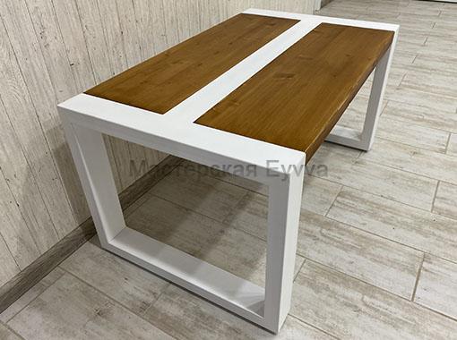 стол с двумя планками