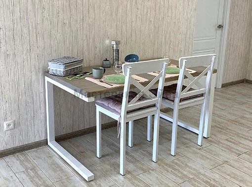 Стол обеденный серый