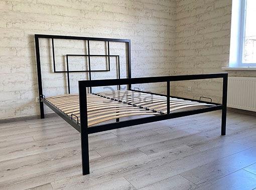 двухспльная кровать в стиле лофт черная