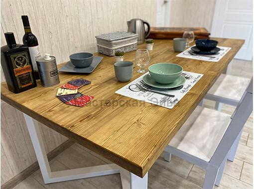 стол по индивидуальным размерам из лиственницы