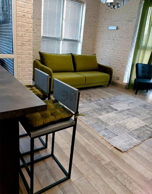 барный стул со спинкой серый