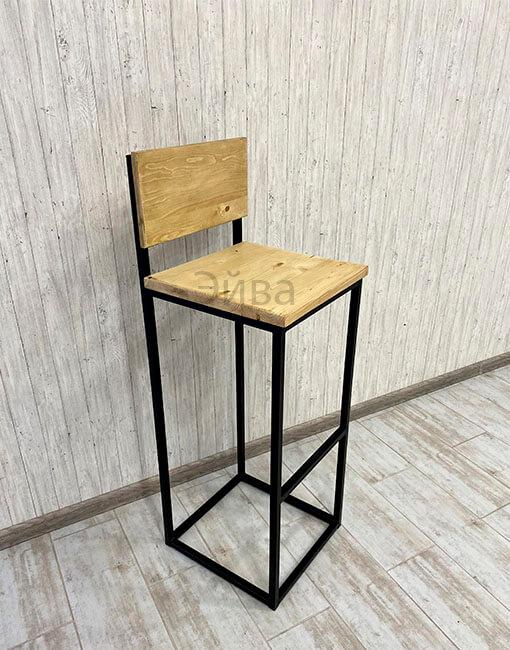 барный стул со спинкой бесцветный