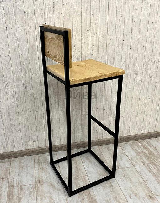 барный стул со спинкой вид сзади