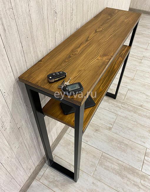 консольный столик лофт