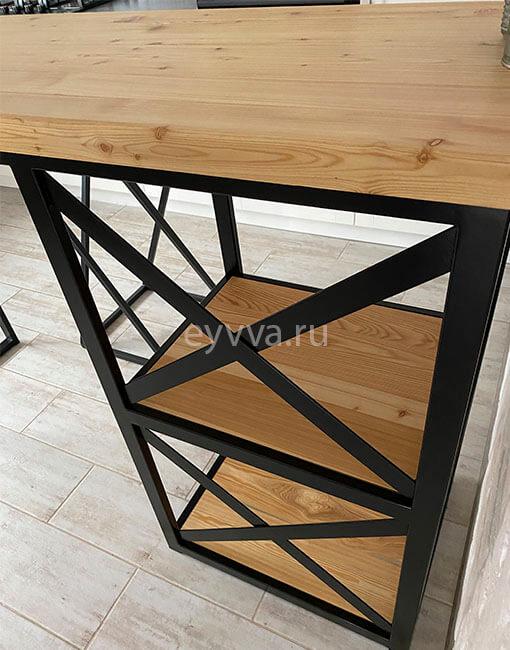 барный стол с металлическим каркасом