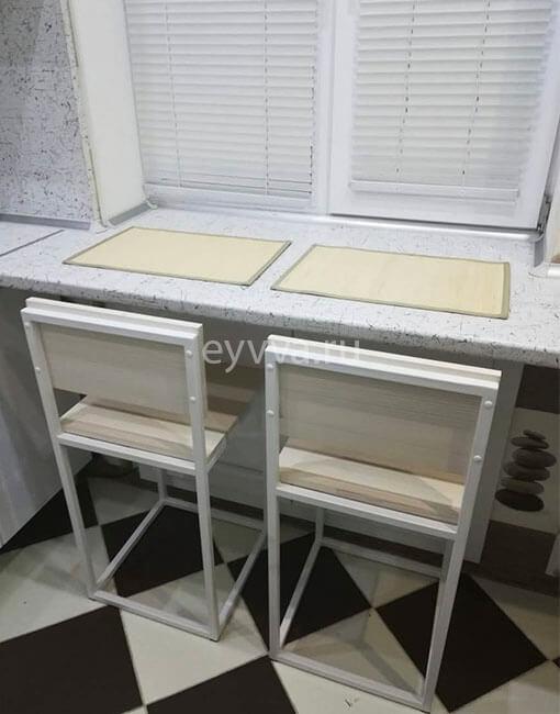 металлический стул лофт белый