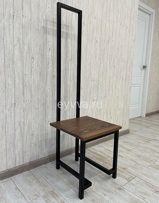 стул металлический с высокой спинкой