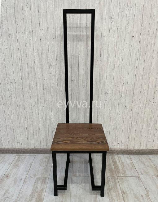 металлический стул лофт с высокой спинкой