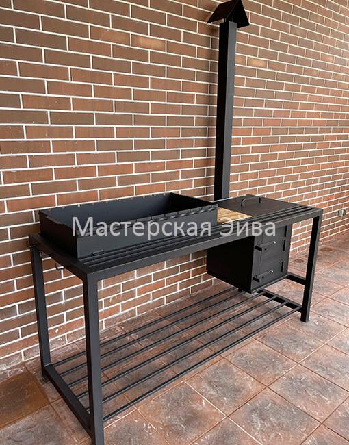 мангал с печкой под казан и столиком